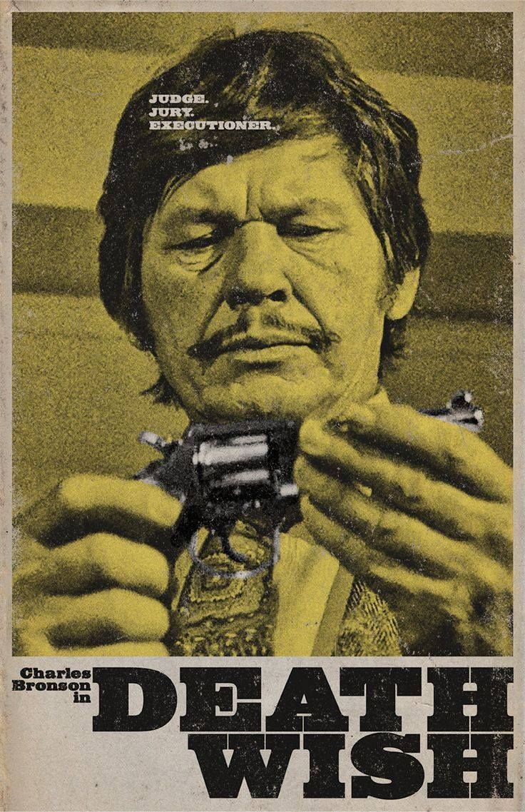 Charles Bronson Death Wish Classic BW Poster