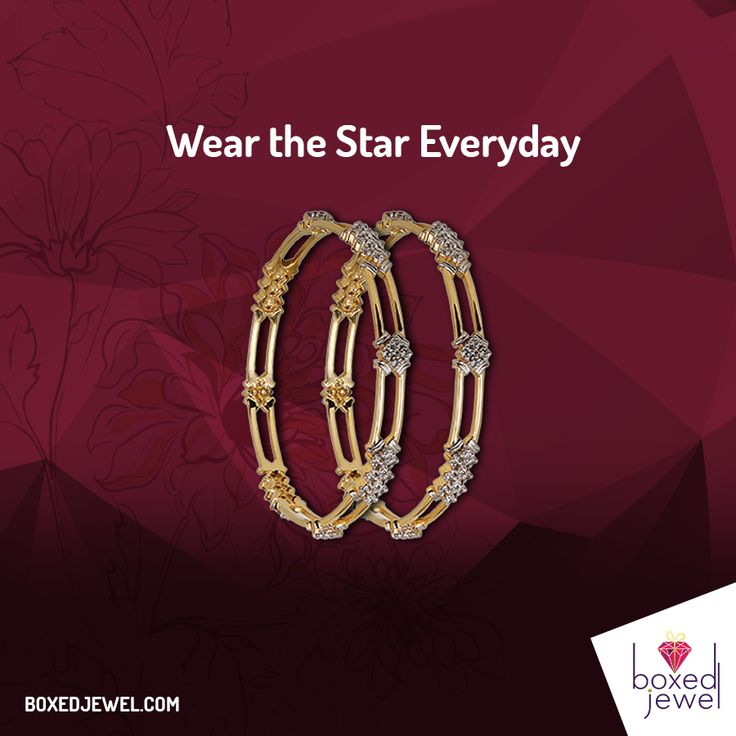 Everyday Styles and Designs at www.boxedjewel.com. #Bangles #Jewellery