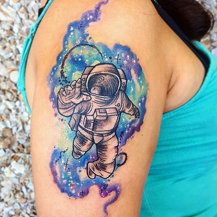 Best 25+ Watercolor Galaxy Tattoo Ideas On Pinterest