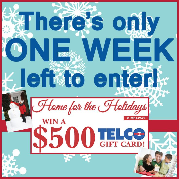 ONE WEEK LEFT! #holidaycontest #telco