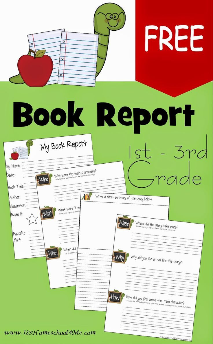 Free Book Report Template Is Perfect For Kindergarten, 1st Grade, 2nd  Grade, 3rd