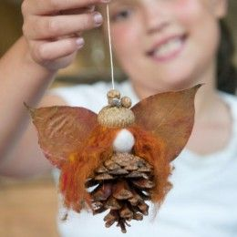 Pine cone fairy and other autumn crafts from Magic Onions.