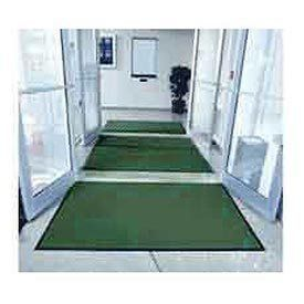 """Entryway Mat Inside Final Drying 48"""" X 96"""" Green . $57.50. 3 STEP ENTRANCE CLEANING SYSTEM Complete coverage of your entrance is now easier than ever. This color coordinated system includes 3 distinct vinyl backed mats designed to catch, trap and hide dirt and moisture: outside the building, within the lobby and inside the building. INSIDE OVATION FINAL DRYING mat is positioned inside the entrance. Fine nylon fibers tufted in a loop-pile design absorb remaining moisture and ..."""