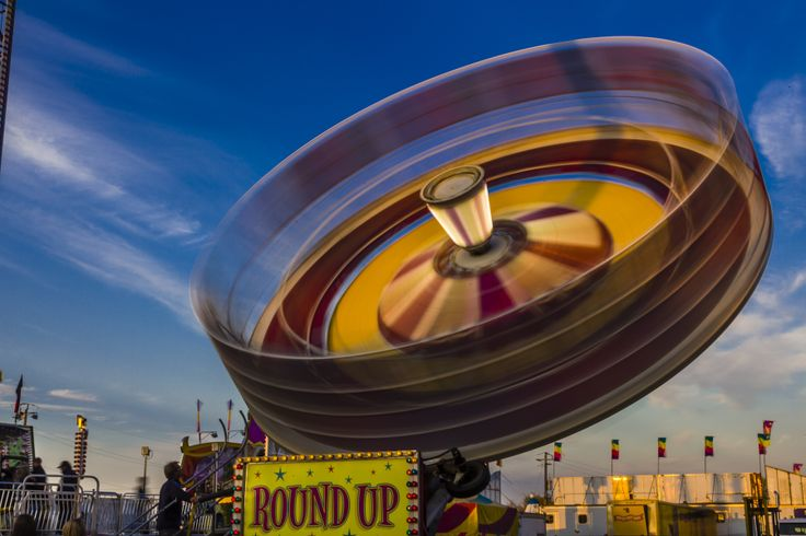 Roundup midway ride at Markham Fair.