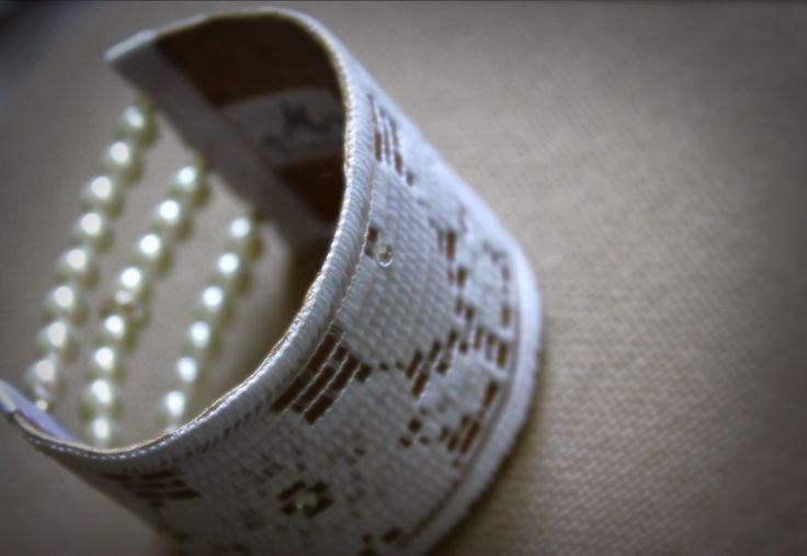 Memshe for the Bride / bracelet/ leather