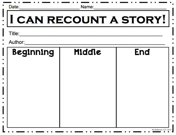 Graphic Organizer Bundle Beginning Middle End Story