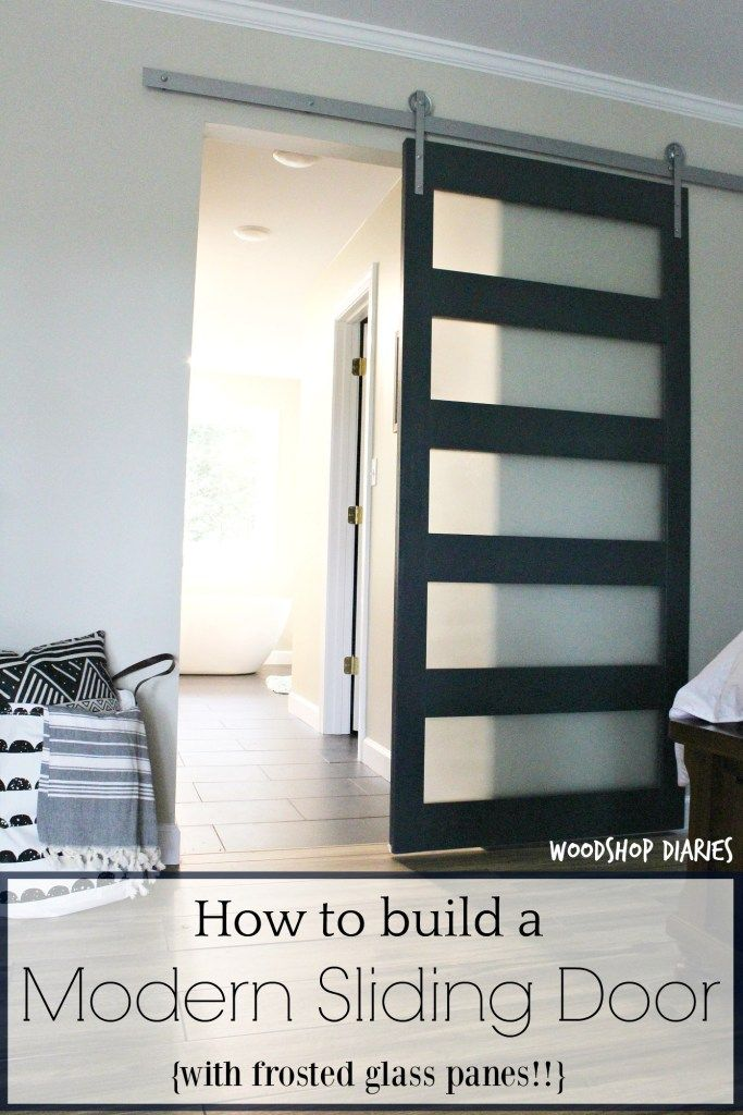How To Build A Diy Modern Sliding Door Modern Sliding Doors Diy