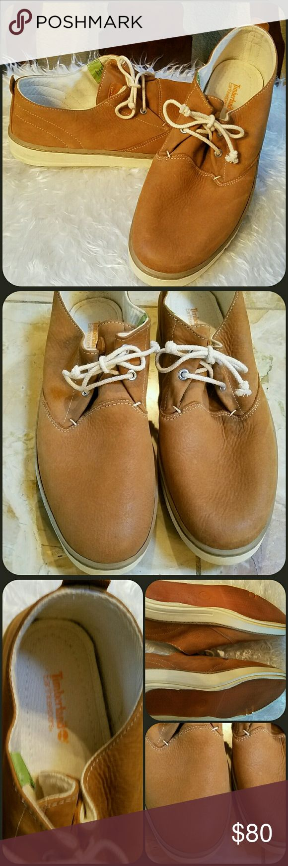 🆕Men's Timberland Earthkeepers Shoes NWOT Timberland Earthkeepers Deck Shoes in tan. Size 13M. Great pebbled leather shoes, rubber soles. Comfortable. Inserts are cushioned and can be removed.  Never worn. The bottoms are a little discolored from people trying on at the store which is normal or maybe they are suppose to be that way. High quality shoes. I purchased for my son but he has a big foot. NWT for listing since they are new and never worn. No box. Very comfortable. Water resistant…