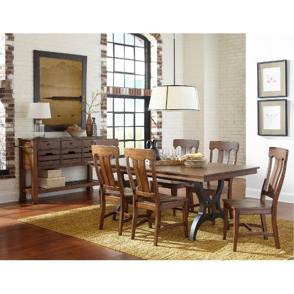 5 Piece Dining Set   District Birch and Metal  Dining Room TableFormal  340 best Dining Room Furniture images on Pinterest   Dining room  . Formal Dining Room Sets Houston Tx. Home Design Ideas