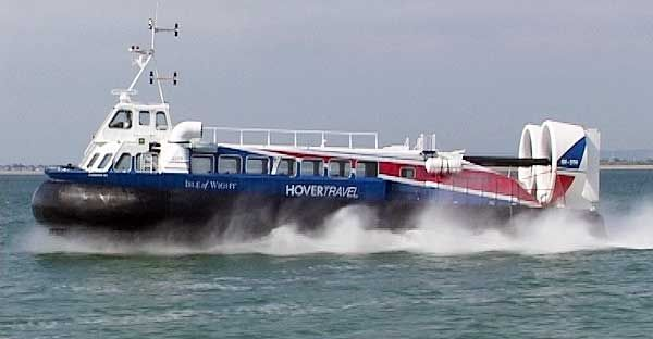 Hovercraft to the Isle of Wight from Southsea - UK. Most amazing thing when I was little!! I loved to get Fish and Chips and sit on a bench and watch the hovercrafts come and go and feel the seabreeze and salt :)
