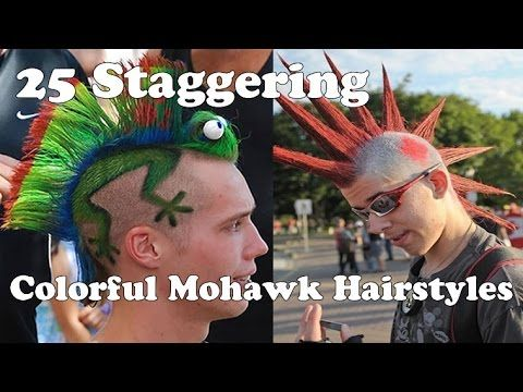 Colorful Mohawk Hairstyles and Haircuts - 25 Staggering Mohawk Hair Ideas