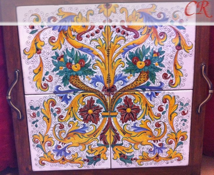 Vassoio mattonelle | Ceramiche Rinascita