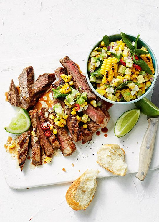 How To Make Chilli Beef With Charred Corn & Feta Salad