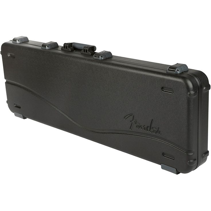 Fender Deluxe Molded ABS P/J Bass Guitar Case Black Gray/Silver