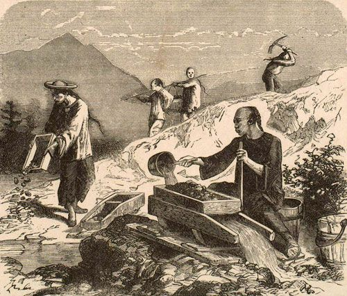Chinese miners in CA, mid-1800's