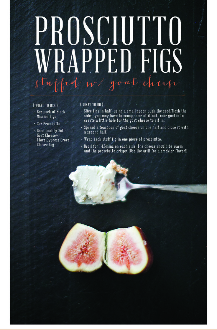 Prosciutto Wrapped Figs — recipe by gingerandbirch  |  images by Lily Glass