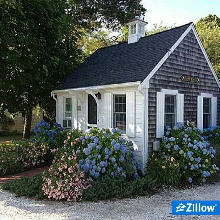 Very sweet - click on the link for a peek inside this cozy cottage - like a summer cabin time share maybe?