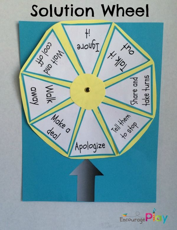 Solution Wheel: A Simple Way to Help Kids Solve Problems | Encourage Play