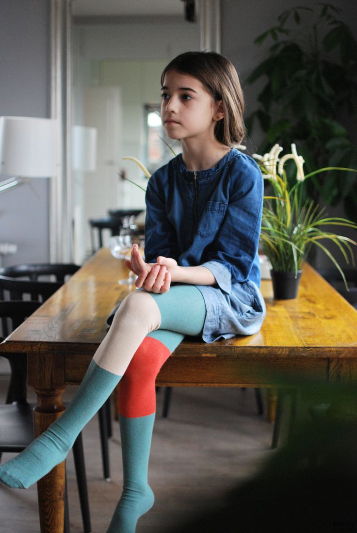 Color Blocked Tights
