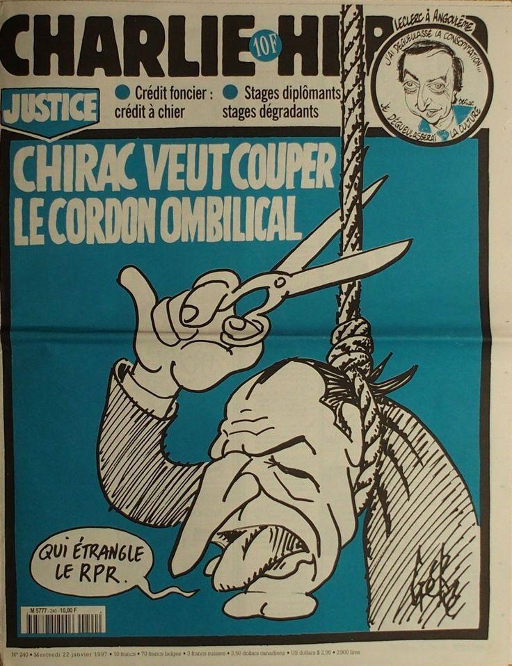 Charlie Hebdo - # 240 - 22 Janvier 1997 - Couverture : Gébé