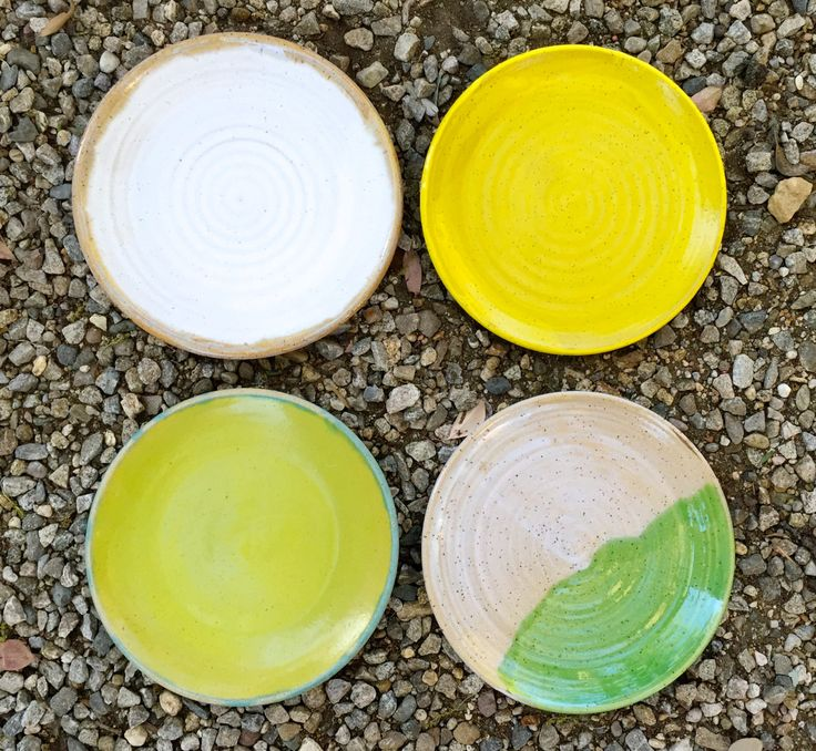 inspired by the joy in setting a table, this set of 4 plates is perfect for the eclectic look.  each piece is wheel thrown, hand dipped & high fired.  stoneware dinner plates measure approximately 10.5 in diameter and are food, microwave and dishwasher safe.  READY TO SHIP  custom gift wrapping available https://www.etsy.com/listing/186568425/custom-gift-wrapping-gift-wrapping   ******************************************** Working so closely with the earths elemen...