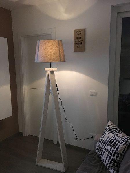 Lampade da terra - Lampada da terra in legno - un prodotto unico di BOTTEGACREATIVA-LADESIGN su DaWanda