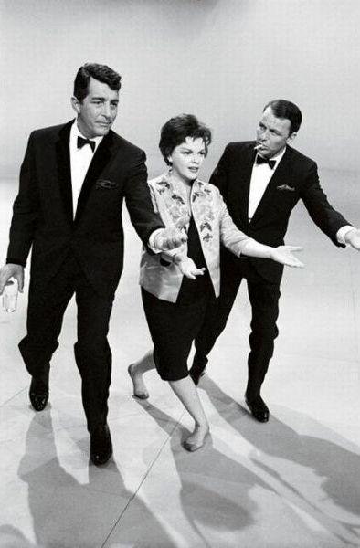 Dean Martin, Judy Garland & Frank Sinatra.