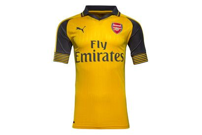 Puma Arsenal 16/17 Away S/S Replica Football Shirt When the Gunners take their game away from the Emirates, ensure youre showing loyal support by wearing with pride the Arsenal 16/17 Away S/S Replica Football Shirt, made by Puma.Like their new home ki http://www.MightGet.com/february-2017-2/puma-arsenal-16-17-away-s-s-replica-football-shirt.asp