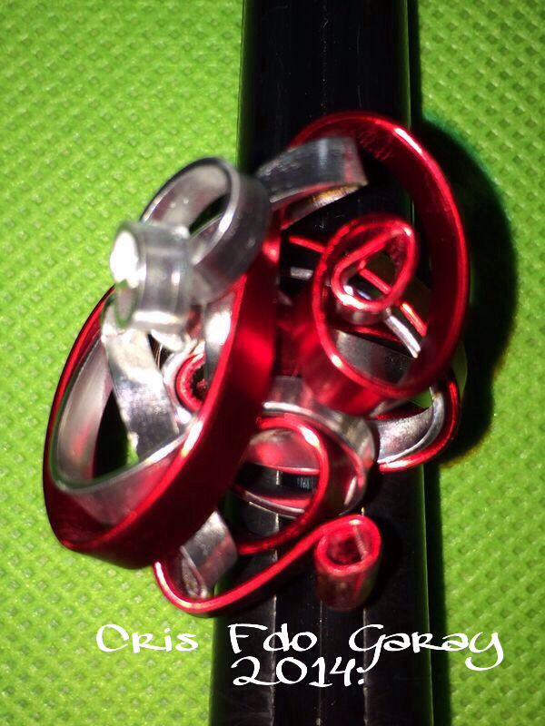 RED AND SILVER RING