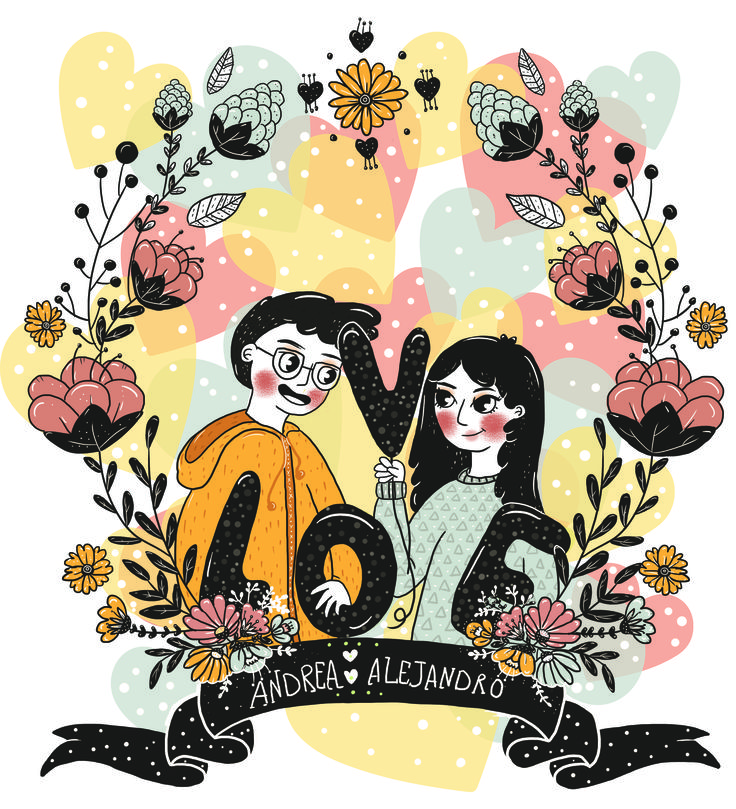 oohh so much love ! my sister and my brother in law illustration :)