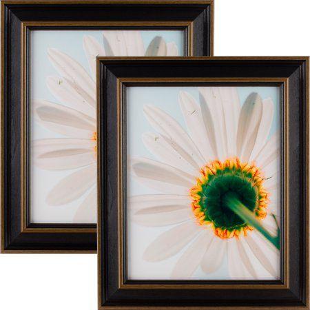 Craig Frames Country Estate 150, Black Hardwood Picture Frame, 8.5x11 Inch, Set of 2