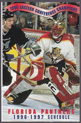 1996 97 Florida Panthers Health Plan of Florida Hockey Pocket Schedule Free SHIP | eBay