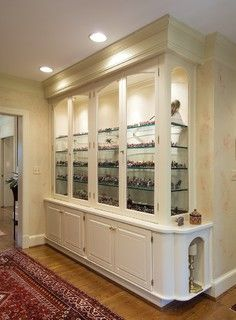 Built In Curio Cabinets | Bar Cabinet