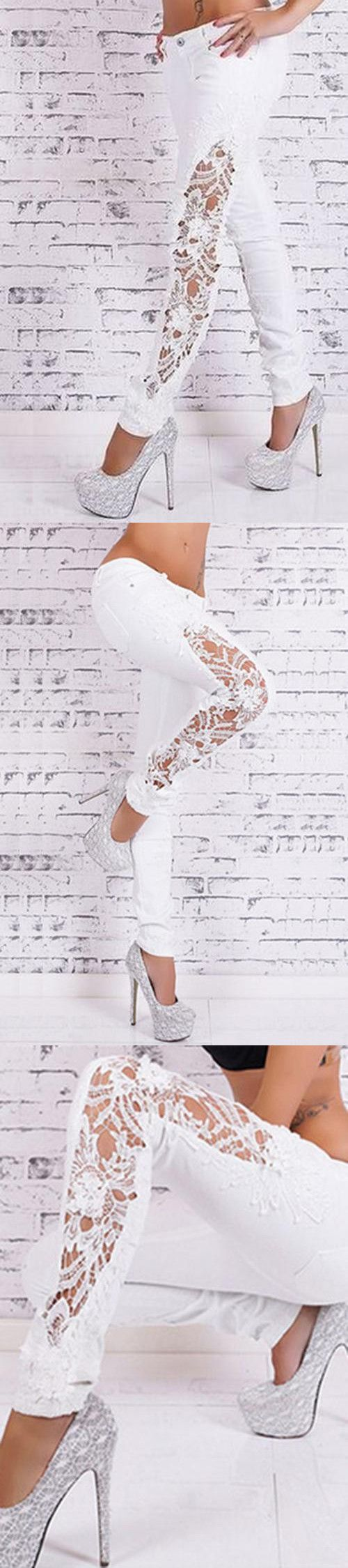 like this white lace leggings