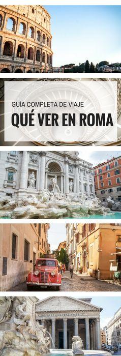 Guía de viaje completa para conocer Roma en cuatro días.  ¿Qué ver en Roma? Te mostramos cuáles son las principales atracciones, dónde alojarte y cómo trasladarte por la capital italiana.  #que #ver #en #roma #guia #turistica #viaje #viajar #italia
