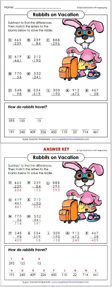 Check out these clever math riddle worksheets! Math