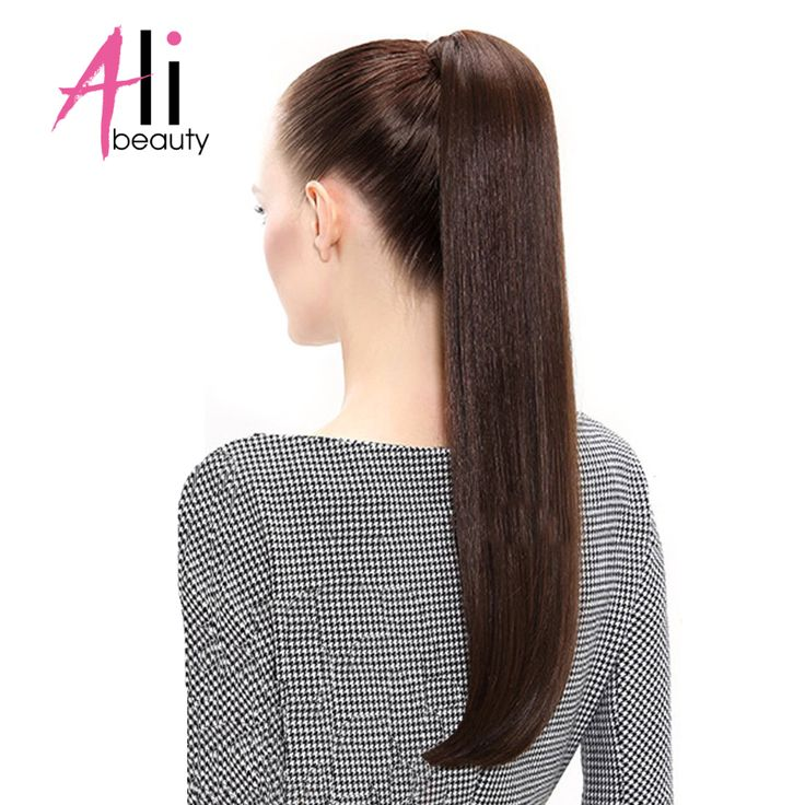 ALI BEAUTY Human Hair Ponytail 5 Colors 12 26 Inches European Straight Hair Extensions Wrap Around Clip In Pony Tail Remy Hair-in Ponytails from Hair Extensions & Wigs on Aliexpress.com | Alibaba Group