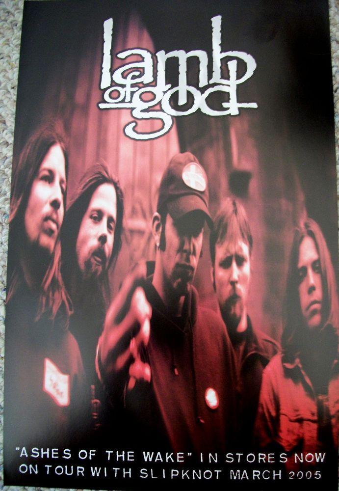 """Lamb Of God / Ashes Of The Wake / 2004 Epic Records Promo Poster / 11"""" X 17"""" / Slipknot Tour #LambOfGod #Promo #Poster"""