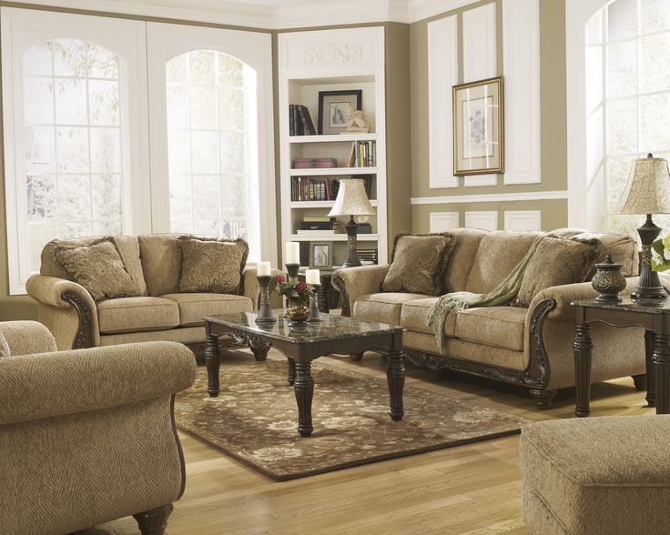 Cambridge   Amber Living Room Set By Signature Design In Living Room Sets.  With Sweeping Rolled Arms On Either Side Of Supportive Yet Comfortable  Seating ...