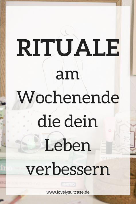 Führe diese Rituale am Wochenende ein und schon wirst du die freien Tage mehr als genießen können. Der ultimative Lifestyletipp. #Lifestyle #Wochenende #Rituale