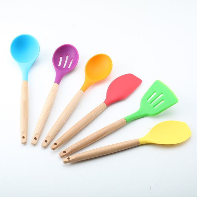 Best 25 silicone kitchen utensils ideas on pinterest for Colorful kitchen tools