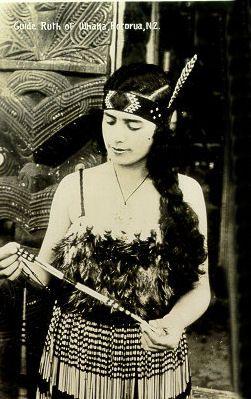Maori Guide Ruth of Whaka, New Zealand
