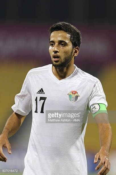 Rajaei Ayed Fadel Hasan of Jordan during the AFC U23 Championship quarter final match between South Korea v Jordan at the Suhaim Bin Hamad Stadium on...