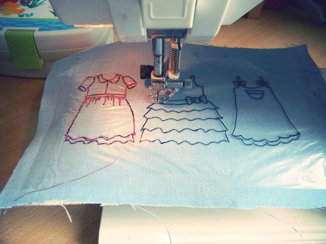 Guest blogger: Freehand machine embroidery by Paunnet  interesting free motion tutorial