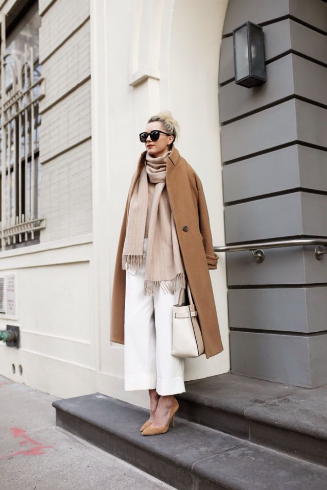 Camel , white , beige
