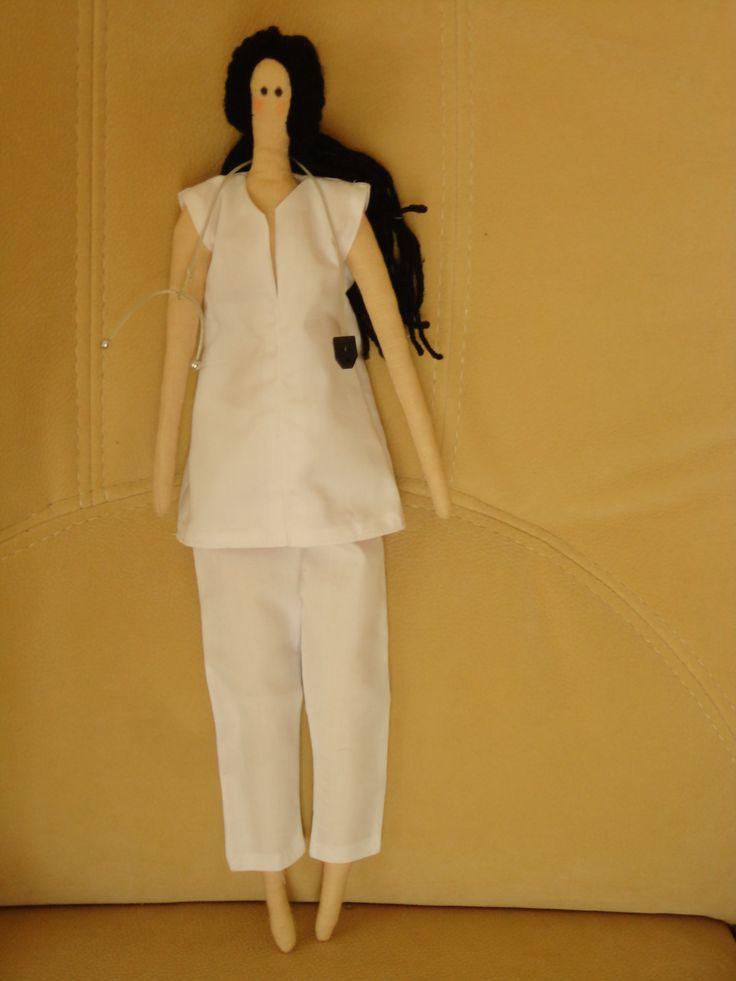 Кукла Тильда-медсестра Работа Ирмы Финк