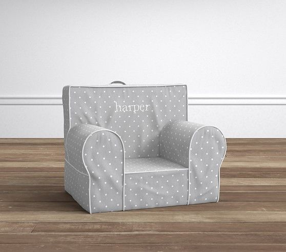 Gray Pin Dot My First Anywhere Chair®   Pottery Barn Kids