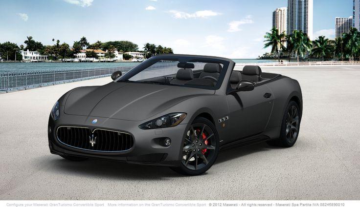 Maserati granturismo convertible sport with custom interior and matte finish exterior paint - Exterior matt paint collection ...