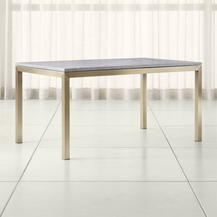 Shop Parsons Grey Marble Top/ Brass Base Dining Tables.  You've designed your ideal Parsons-style high dining table, from top to bottom.
