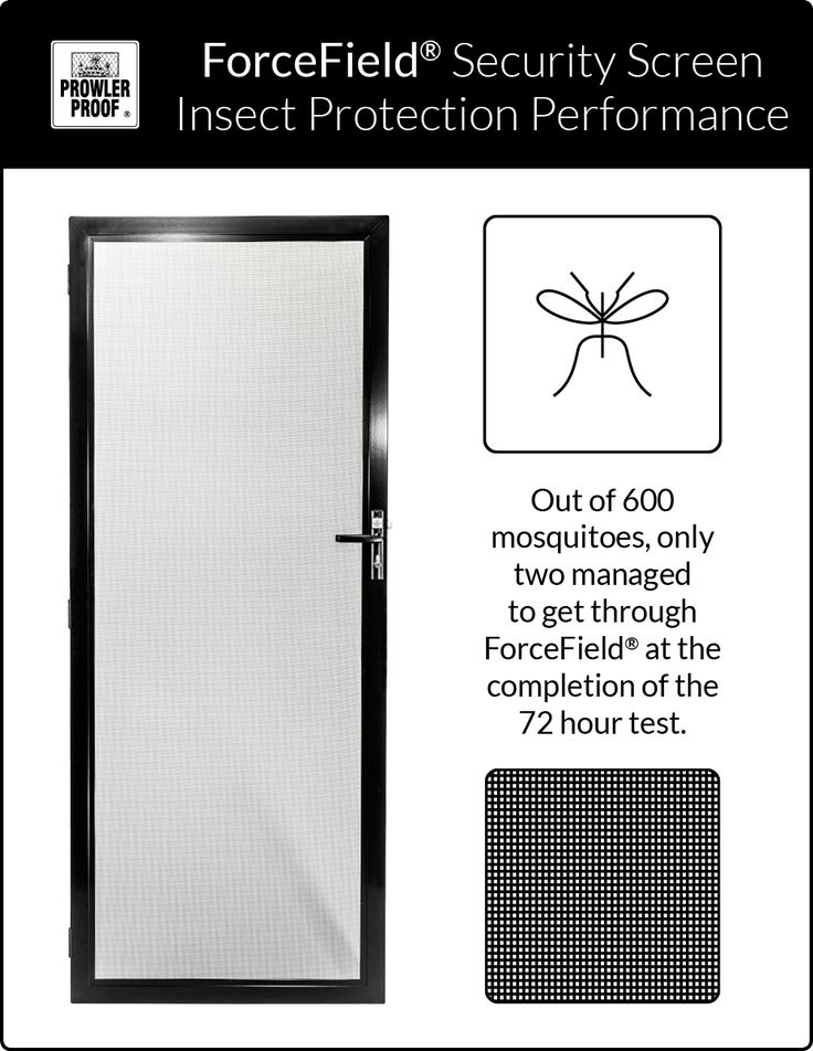 Prowler Proof - ForceField® security screens keep almost everything out. Even tiny insects like dengue fever mosquitoes can't find their way through the 1.5 mm x 1.6 mm openings in the mesh. Prowler Proof is a proudly Australian owned company.
